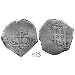 Potosí, Bolivia, cob 1 real, 1665E.