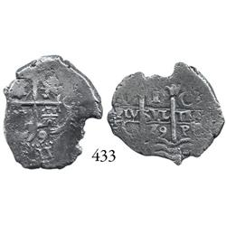 Potosí, Bolivia, cob 1 real, 1679C.