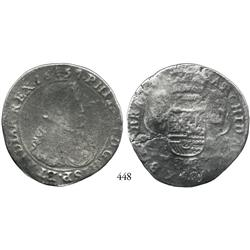 Brabant (Brussels mint), Spanish Netherlands, portrait ducatoon, Philip IV, 1657.