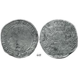 Brabant (Brussels mint), Spanish Netherlands, portrait ducatoon, Philip IV, 1659, with important ped