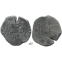 Potosí, Bolivia, cob 8 reales, 1694VR.