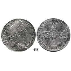 London, England, half crown, William III, 1697.