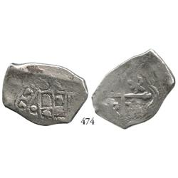 Mexico City, Mexico, cob 4 reales, 1713J.