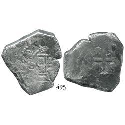 Mexico City, Mexico, cob 8 reales, 1732/1(F).