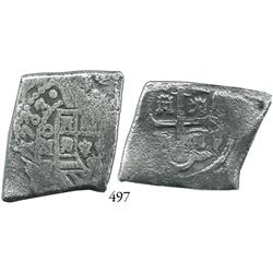 Mexico City, Mexico, cob 8 reales, 1733F, scarce final date of cobs.