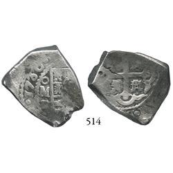 Mexico City, Mexico, cob 4 reales, 1730R.