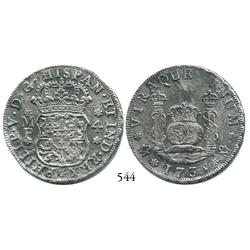 Mexico City, Mexico, pillar 4 reales, Philip V, 1735MF.
