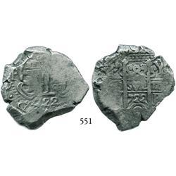 Potosí, Bolivia, cob 8 reales, 1722Y.
