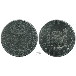 Mexico City, Mexico, pillar 8 reales, Ferdinand VI, 1758MM.