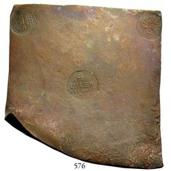 "Sweden (Avesta mint), copper ""plate money"" 4 dalers, Fredrik I, 1729."
