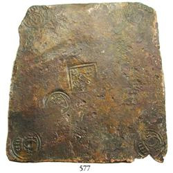 "Sweden (Avesta mint), copper ""plate money"" 2 dalers, Karl XII, 1716 with 1718 countermark (1-1/2 dal"