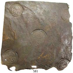 "Sweden (Avesta mint), copper ""plate money"" 2 dalers, Adolf Fredrik, 1756."