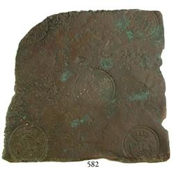 "Sweden (Avesta mint), copper ""plate money"" 2 dalers, Fredrik I, 1742."