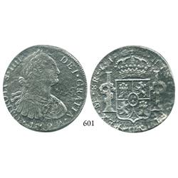 Lima, Peru, bust 8 reales, Charles IV, 1799IJ.