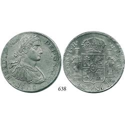 "Mexico City, Mexico, bust 8 reales, Ferdinand VII (""armored"" bust), 1808TH."
