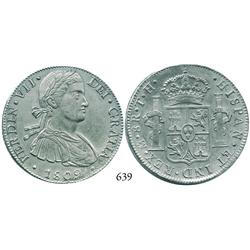 "Mexico City, Mexico, bust 8 reales, Ferdinand VII (""armored"" bust), 1809TH."