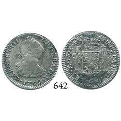 Mexico City, Mexico, bust 1 real, Charles III, 1782FF.