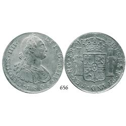Guatemala City, Guatemala, bust 8 reales, Charles IV, 1805M.