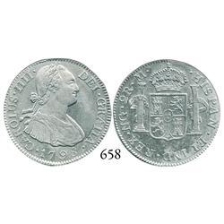 Guatemala City, Guatemala, bust 2 reales, Charles IV, 1798M.
