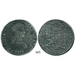 Mexico City, Mexico, bust 8 reales, Ferdinand VII, 1813JJ.