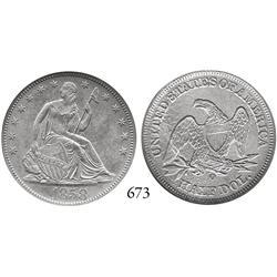 USA, Seated Liberty half dollar, 1858-O, doubled 1, encapsulated NGC Shipwreck Effect.