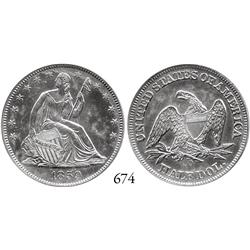 USA, Seated Liberty half dollar, 1859-O, 9 in border, encapsulated NGC Shipwreck Effect.