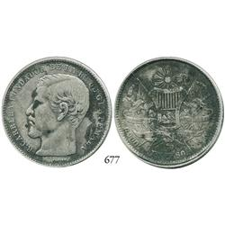 Guatemala City, Guatemala, peso, 1869R.