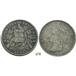 Guatemala City, Guatemala, peso, 1882AE.