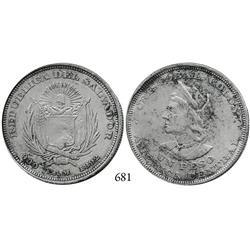 El Salvador, peso, 1892-CAM.