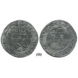 "Mexico City, Mexico, 4 reales, Charles-Joanna, ""Late Series,"" M to left, G to right."