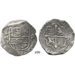 Mexico City, Mexico, cob 8 reales, Philip II, oMF.