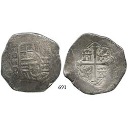 Mexico City, Mexico, cob 8 reales, (16)20(?)D.