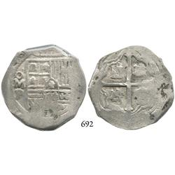 Mexico City, Mexico, cob 8 reales, (1)648P, scarce.