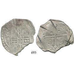 Mexico City, Mexico, cob 8 reales, 1649P, rare.