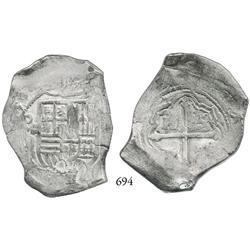 Mexico City, Mexico, cob 8 reales, (16)51/0P, rare.