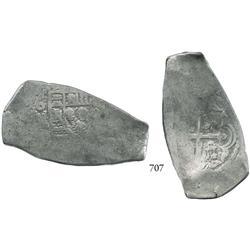 Mexico City, Mexico, cob 8 reales, Philip V, oMD, elongated planchet.
