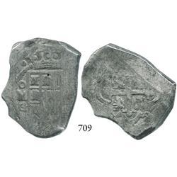 Mexico City, Mexico, cob 8 reales, 1730G.