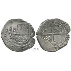 Mexico City, Mexico, cob 4 reales, Philip III, oMA, very scarce.