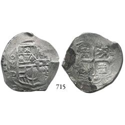 Mexico City, Mexico, cob 4 reales, Philip III or IV, oMD.