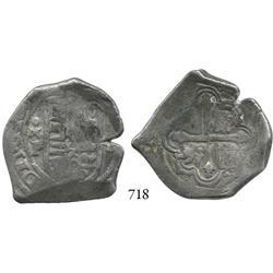 Mexico City, Mexico, cob 4 reales, Philip IV, oMP.