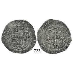 Mexico City, Mexico, cob 2 reales, Philip II, oMO to right.