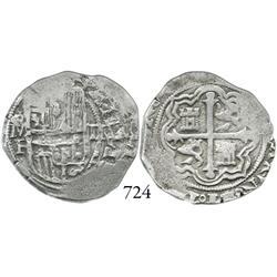 Mexico City, Mexico, cob 2 reales, Philip III, oMF.