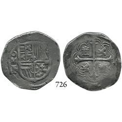 Mexico City, Mexico, cob 2 reales, Philip III, oMF/A, scarce.