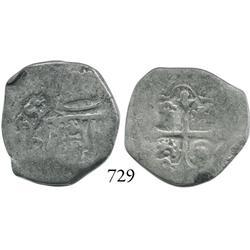 Mexico City, Mexico, cob 2 reales, (16)55P, rare.