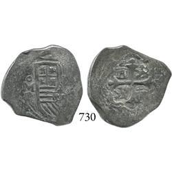 Mexico City, Mexico, cob 2 reales, Philip IV, oMP.