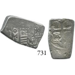 Mexico City, Mexico, cob 2 reales, Charles II, 169(0 or 6)L.