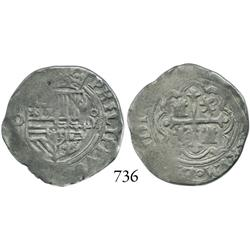 Mexico City, Mexico, cob 1 real, Philip II, O to left, oM to right.