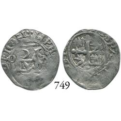 Mexico City, Mexico, cob 1/2 real, Philip II, O to left, oM to right.