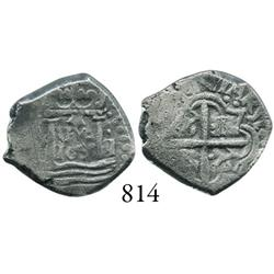 Lima, Peru, cob 1 real,  Star of Lima  type, 1659V, star over LIMA over 1659 in center, V to left, I