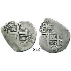 Lima, Peru, cob 2 reales, 1720M.